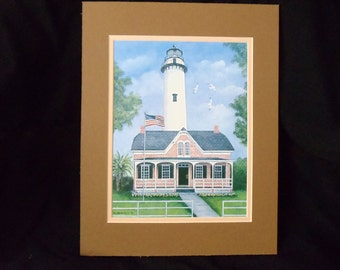 "St. Simons Lighthouse 8""x10"" Fine Art Print"
