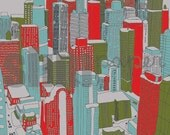 print your own (or e-card) - chicago holiday skyline postcards with custom personalization