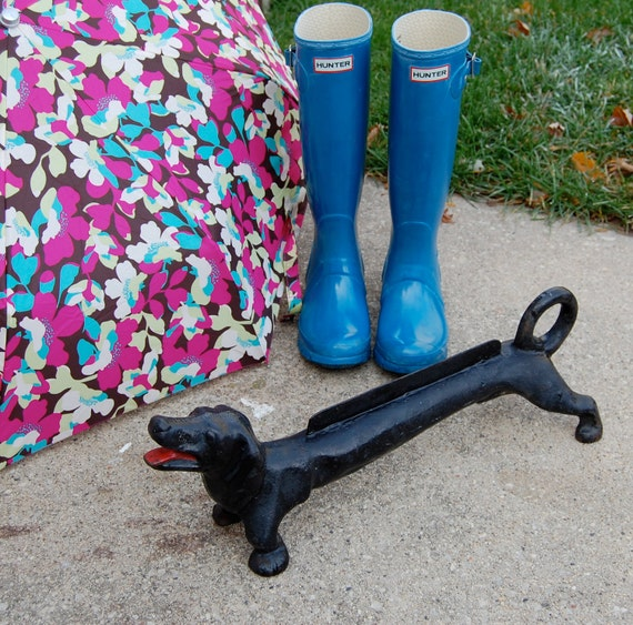 Reserved for Drew Vintage Cast Iron Dachshund Dog Boot Shoe Scraper