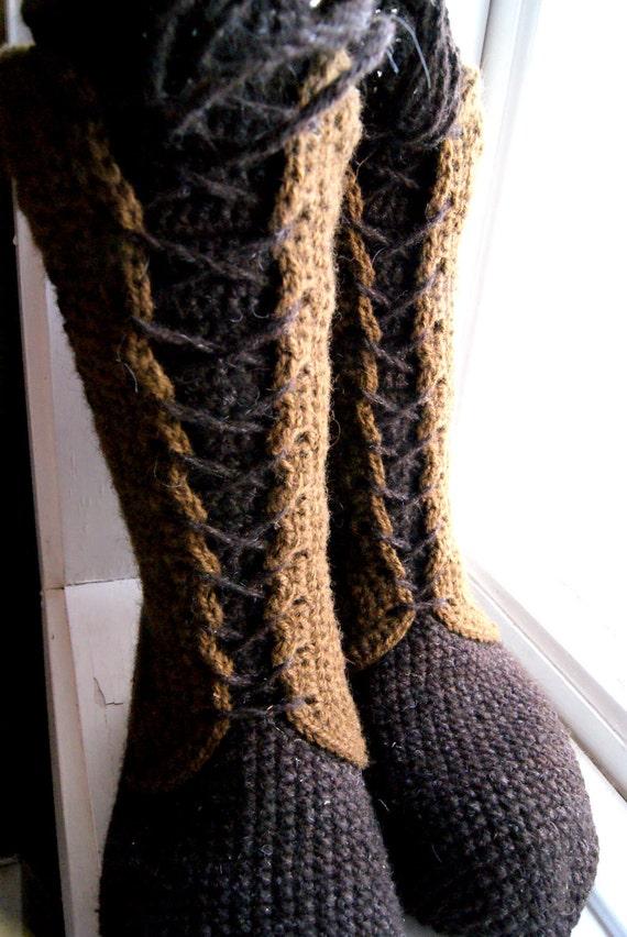 SALE Crochet Woollen Socks, Boots