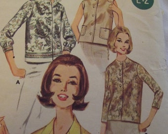 Vintage Pattern, Blouse Pattern, 60s Blouses, in 4 Versions, Size 16 Bust 36, Butterick 2683, Mad Men Blouse, Border Print Blouse Pattern