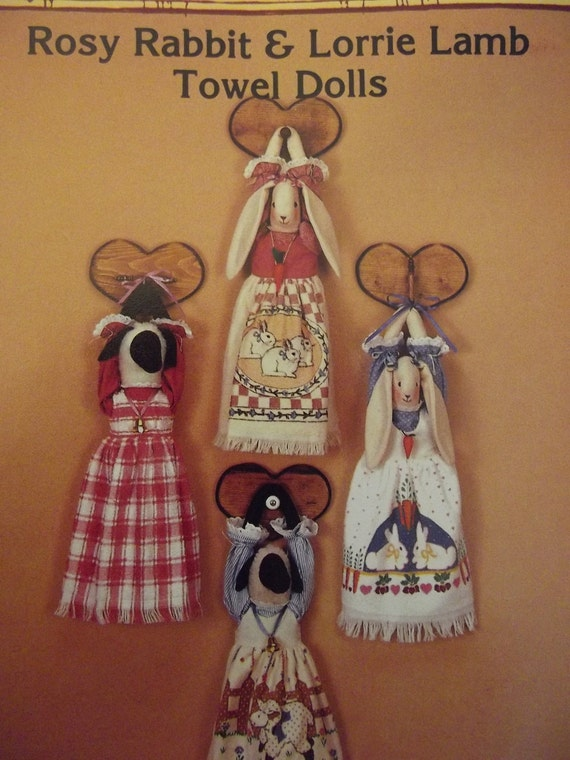 Vintage Pattern Towel Dolls Kitchen Accessories Rabbit