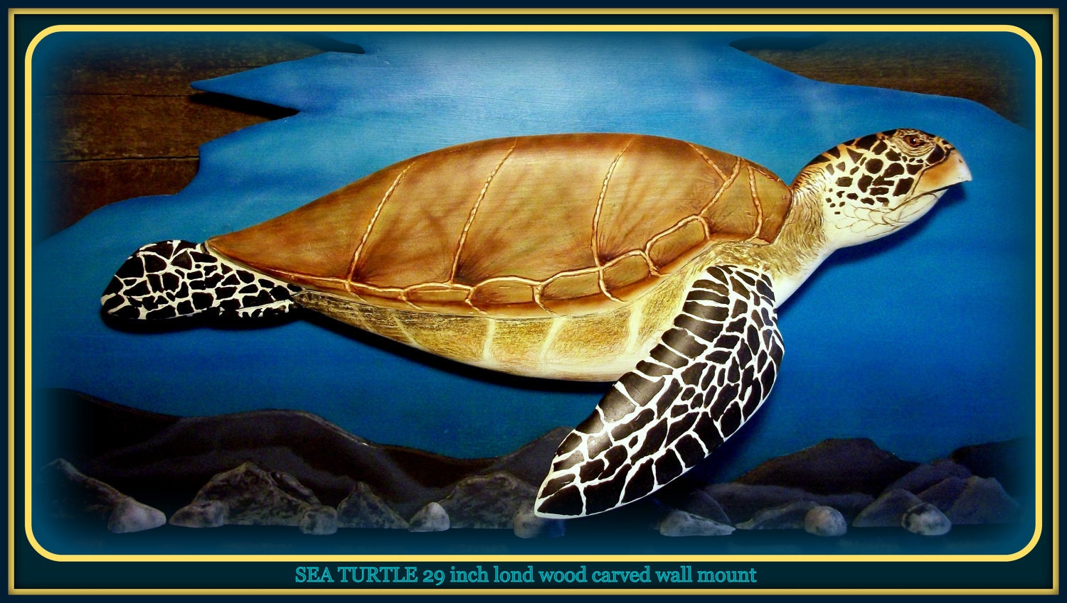 SEA TURTLE Wall Hanging Sea Turtle Art Home Decor By WOODNARTS