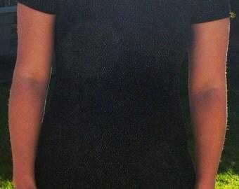 Black Diamond spandex  mini  dress size 6-8 small