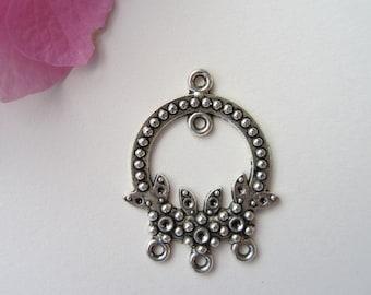 2 pcs  - 33x25mm  -  Tibetan Silver Earring Connectors Findings