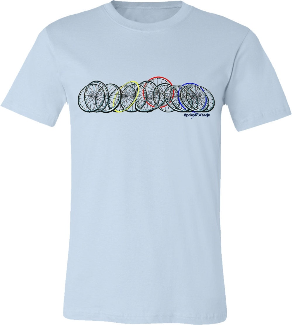 bicycle t shirt horizontal bicycle spokes and by spokenwheelz