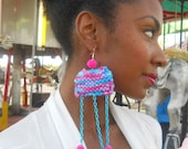 Knit & Chain Onesie Earring ( Cotton Candy Collection SP2012)