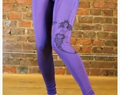 SALE - Purple Leggings - Mermaid Leggings - Womens  Legging - large legging