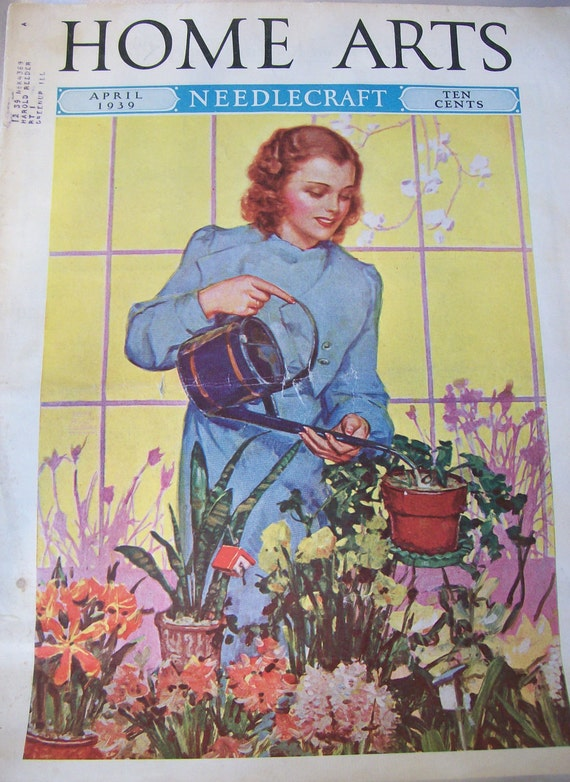 Vintage Home Arts Needlecraft Magazine April 1939 20 PERCENT off use: MEMORIAL DAY20