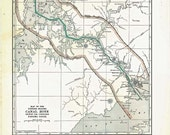 Large Vintage Map Panama Canal 1930s