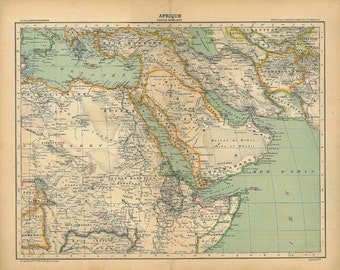 Antique Map Africa North East 1899