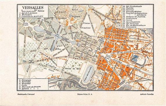 Versailles Paris Map City Map France