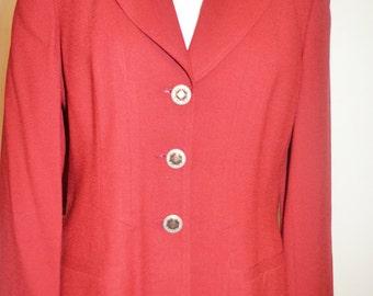 Michael Blazer/Red Vintage Blazer /Size 10