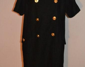 Black Adrienne VIttadini Linen Dress