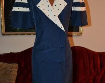 Vintage Silk Richard Warren for Bonwit Taylor Dress