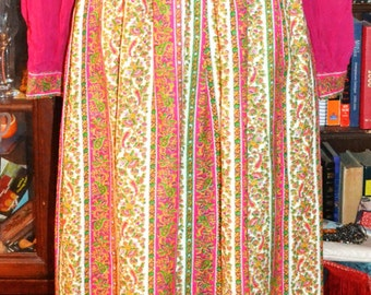 Multi-Colored Floor Length Dress/ Vintage Beauty