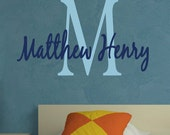 Wall Decal Monogram Name   Children     EXTRA LARGE