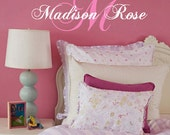 Monogram Name  Vinyl Wall Decal  Children Personalized