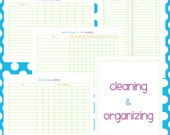 Cleaning and Organizing Set - EDITABLE / FILLABLE PDF - 5 pages