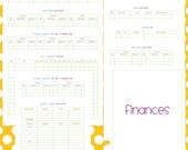 Finances Set - EDITABLE / FILLABLE PDF - 23 pages