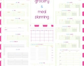Grocery and Meal Planning Set - EDITABLE / FILLABLE PDF - 21 pages