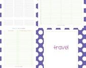 Travel Set - EDITABLE / FILLABLE PDF - 4 pages