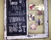 Old Rustic Window with Chalk Board and Chicken Wire for Pictures. 28x28 inches Perfect for Instagram Photos