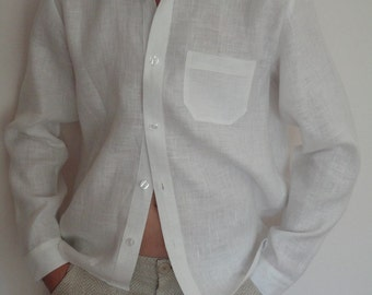 Linen occasional shirt for boy 6-12 years