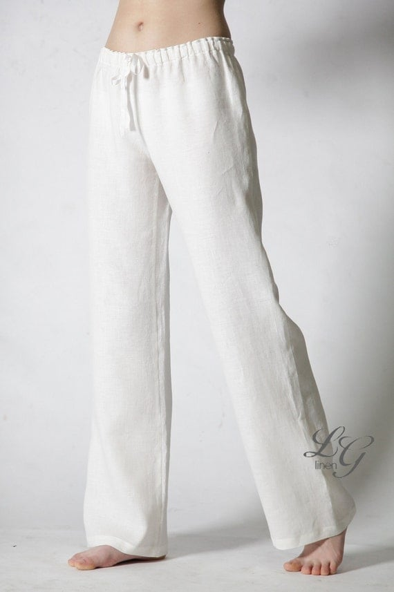 Just Classical Linen Pajama Trouser for Woman