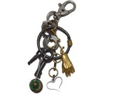 Mens Gifts OOAK Unique Keychain MyHand My Heart Upcycled Recycled Art Industrial Steampunk