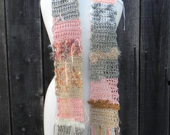 Unique Ooak Shabby Chic Scarf FREE DOMESTIC SHIPPING