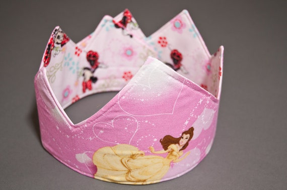 Disney Princesses / Minnie Mouse Reversible Fabric Crown
