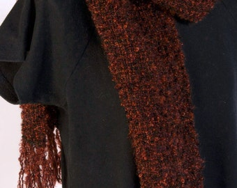 Rich Brown Boucle scarf