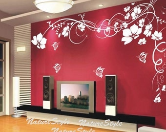 Big flower wall decals hd photos