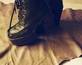 70's Vintage RARE Platform Boots FREE SHIPPING - New Never worn