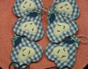 Primitive COUNTRY PEARS Fabric Coasters Mug Mats Ornies