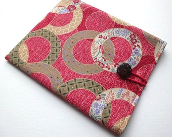 Kindle Voyage case, Kobo Arc Sleeve, Kindle Fire HD Cover Circles Dark Pink