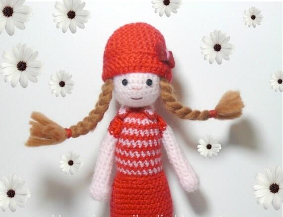 Amigurumi crochet  doll, wool toy,plush doll, gift, sweet ,art doll