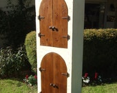 The Abbey Arches Cabinet - Handmade Tall Cabinet Made with Reclaimed Wood by Arcadian Cottage