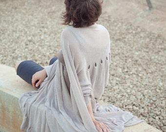 Knitted Shawl Pattern - Manual knitting machine - Big Wrap Dress - Do it yourself
