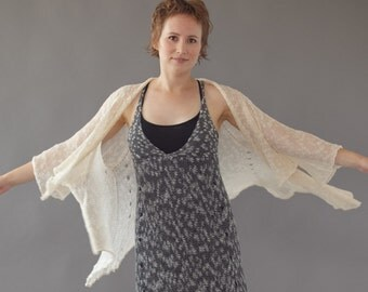 Soft knit jacket - Romantic sheer cardigan - Summer clothing - A135