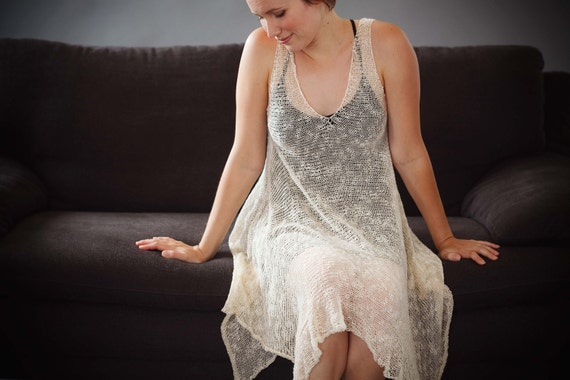 Effortlessly soft knitted dress - Sheer women summer clothing - 134
