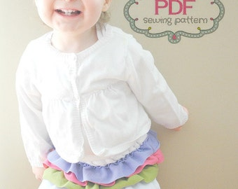 The Ava Ruffle Skirt PDF Sewing Pattern 12 months -5T- Instant Download