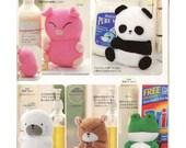 5 Cute Animal Plush Sewing Pattern PDF