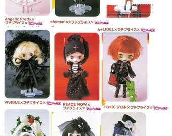 Petite Blythe Pattern, Angelic Pretty BTSSB and 7other Japanese designers outfits PDF