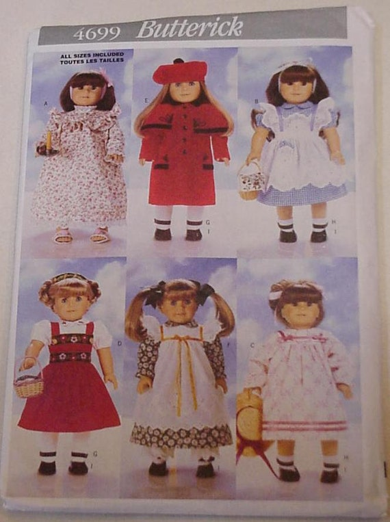 Butterick Pattern 4699 Doll Clothes Pattern New Uncut Fits American Girl 18 inch Doll itsyourcountry