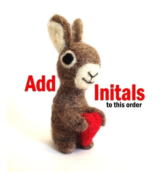 Add Initals To My Heart - Add this to your order