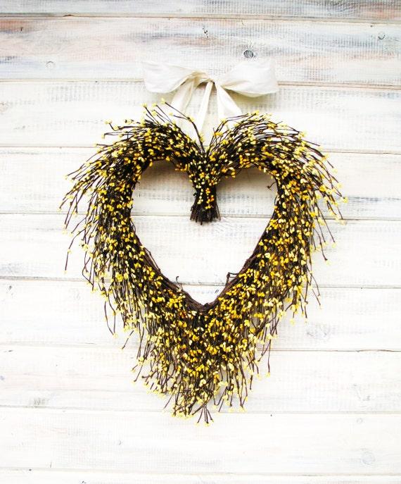 Spring Wedding-Valentines Day Wreath-WEDDING WREATH-Heart Wreath-Autumn Wedding Decor-Scented Wreath-Woodland Wedding-Fall Wedding Decor