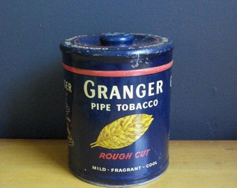 Cool Vintage Granger Pipe Tobacco Tin Liggett and Myers Tobacco Co of St Louis, Mo