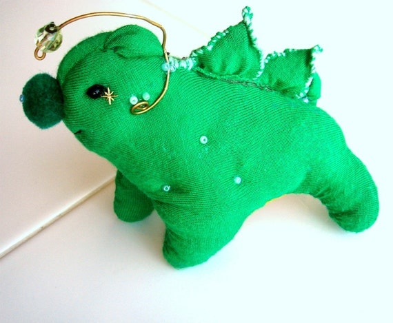 Green plush monster anglerfish dog hybrid by wildflowermakery for Angler fish toy